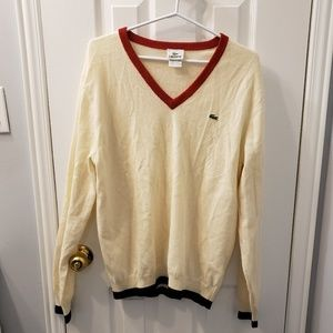 LACOSTE Cream Wool Sweater